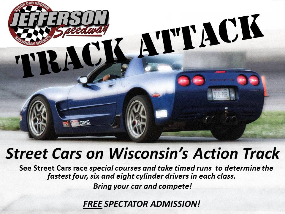 Track Attack One On One Spectator Races.  Free Admission!