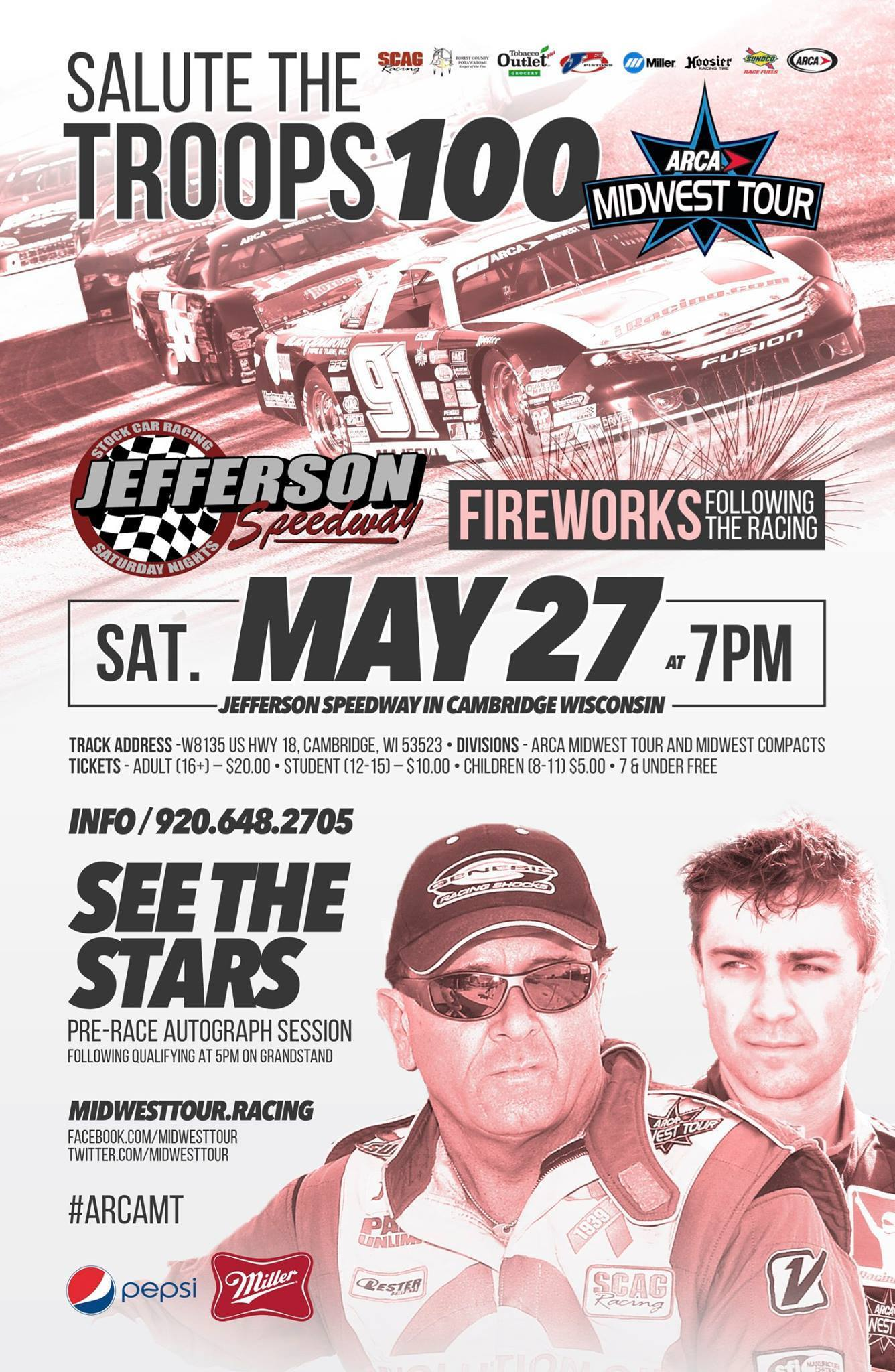 ARCAMT Stars & Cars Prepare For A Return To Jefferson Speedway This Saturday Night